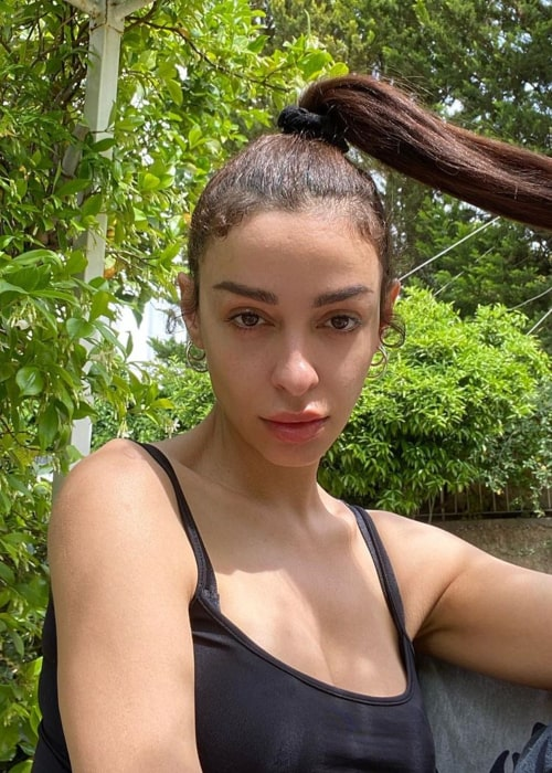 Eleni Foureira in an Instagram selfie from May 2020