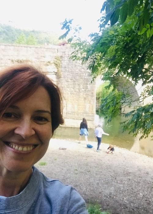 Elisabet Gelabert as seen in a selfie taken in June 2019