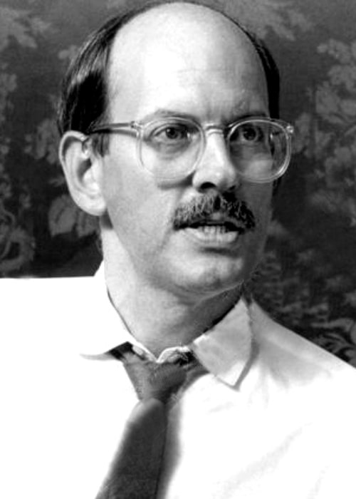 Frank Oz as seen in a black-and-white picture in 1984