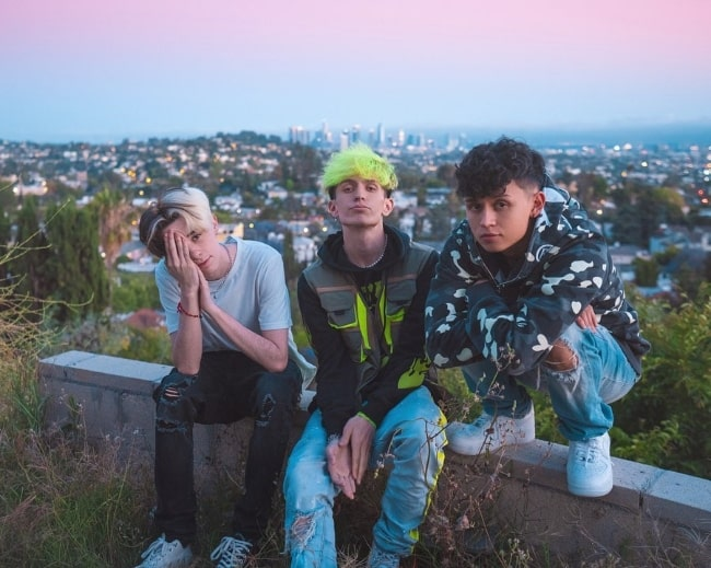 Frok Left to Right - Jack Riyn, Marcus Olin, and Brandon Westenberg as seen while posing for the camera in Los Angeles, California in May 2020