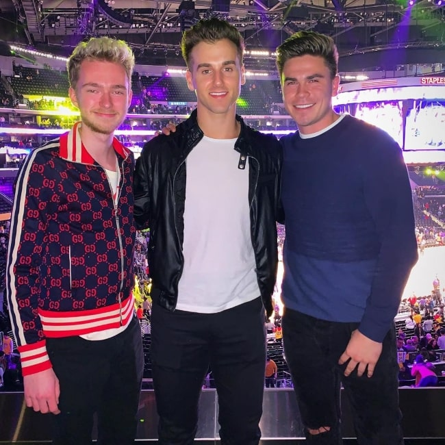 From Left to Right - Jason Wilhelm, Tal Fishman, and Anthony Mayorga at Staples Center in Downtown Los Angeles in January 2020
