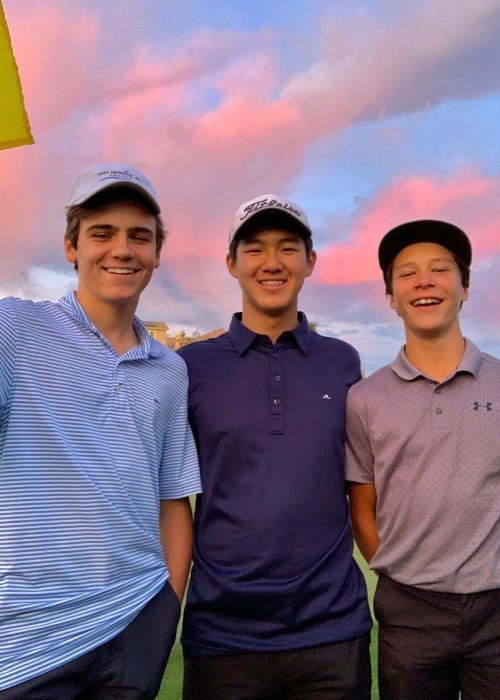 From Left to Right - Lincoln Melcher, JJ Nakao, and Palmer as seen while posing for a picture in Santa Clarita, California in November 2019