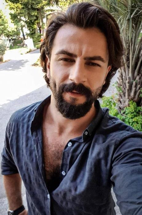 Gökberk Demirci as seen while taking a selfie in Istanbul, Turkey in August 2019