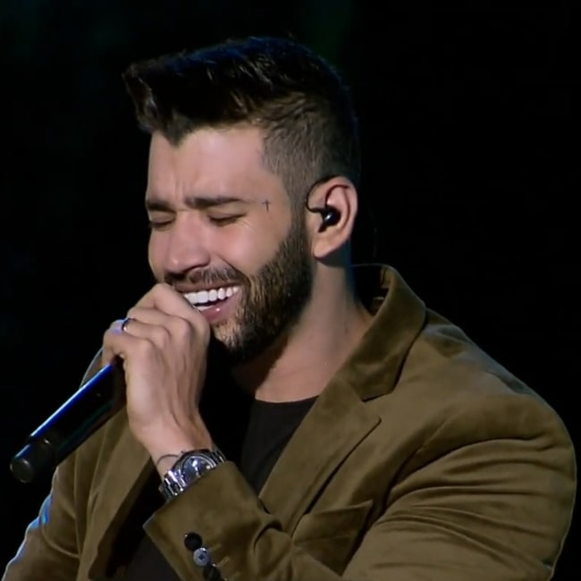 Gusttavo Lima as seen in a picture taken during a performance on December 5, 2018