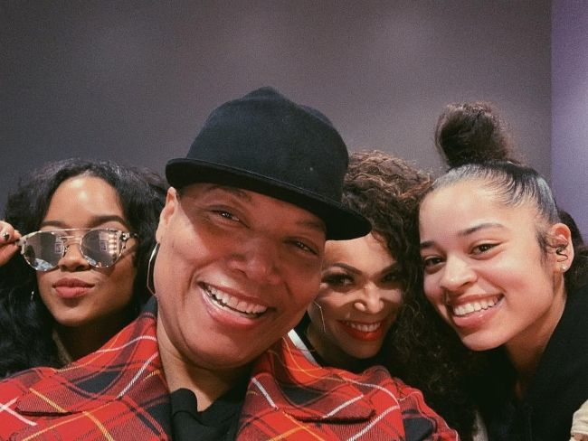 H.E.R. as seen with Queen Latifah, Tisha Campbell, and Ella Mai in 2018