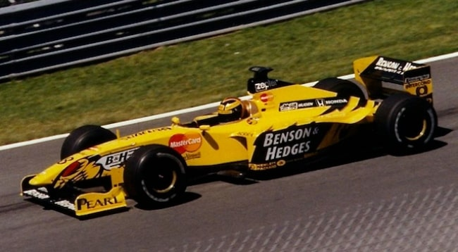 Heinz-Harald Frentzen pictured while driving for Jordan at the 1999 Canadian Grand Prix, during his most successful season in F1