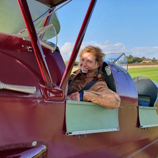 Honeysuckle Weeks as seen in a picture taken in a de Havilland Tiger Moth in August 2019