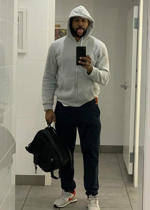 Hosea Chanchez in a selfie in December 2019