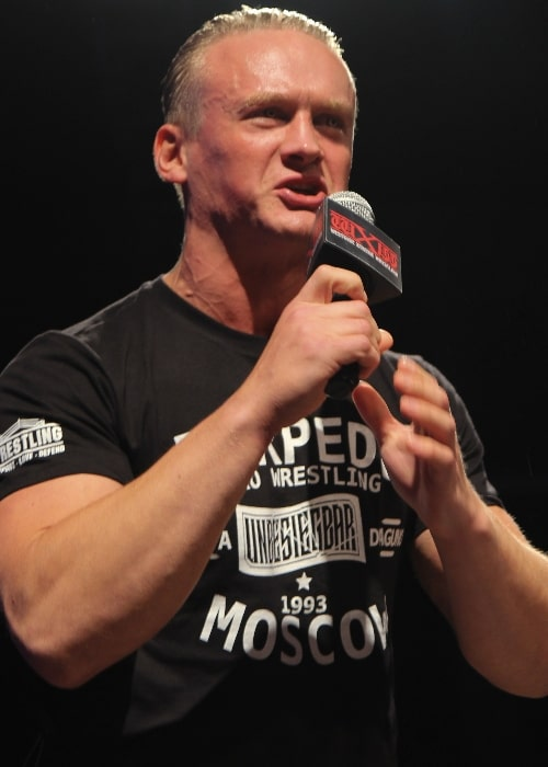 Ilja Dragunov as seen while addressing the public during an event in October 2019