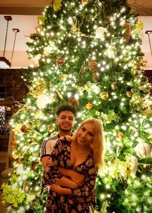 InTrollsive as seen in a picture taken with his girlfriend Cari O'Donnell at The Omni Grove Park Inn in December 2019