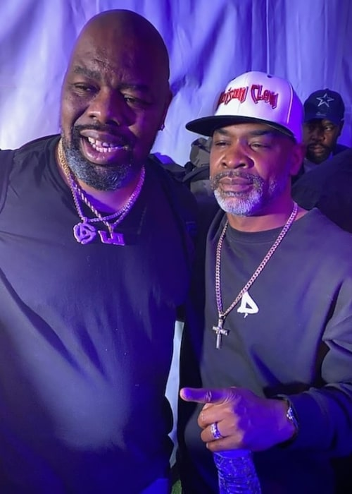 JT Money (Right) as seen while posing for a picture alongside Biz Markie in February 2020