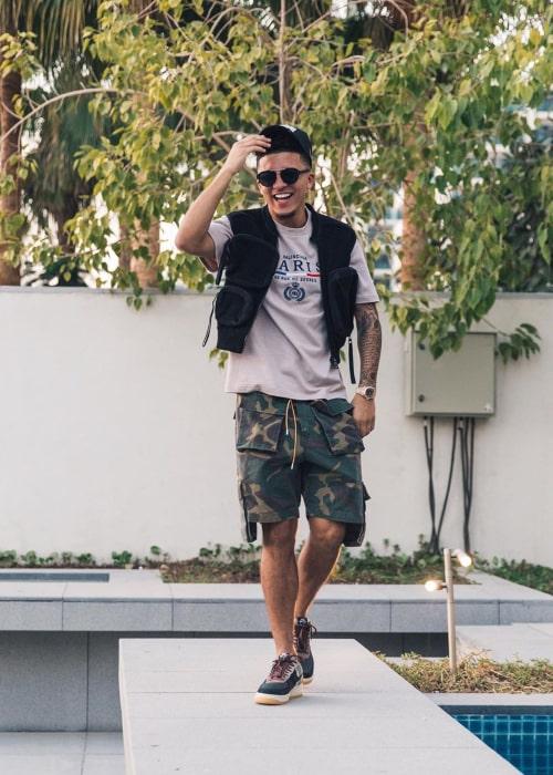 Jadon Sancho as seen in an Instagram Post in December 2019