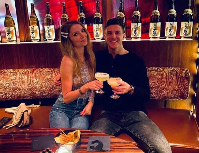 James Calado and Lauren Calado as seen in December 2019