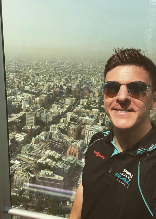 James Calado in an Instagram selfie as seen in January 2020