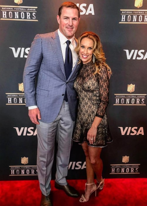 Jason Witten and Michelle Benson Morley, as seen in February 2017