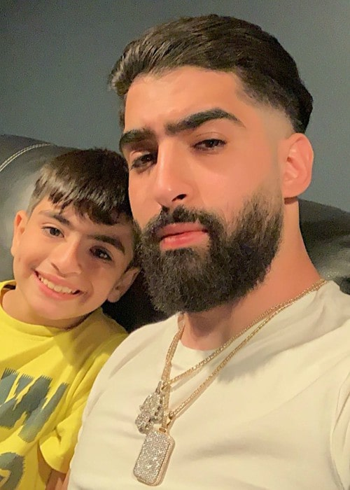 Jay Mazini with his younger brother Hamooda as seen in June 2019