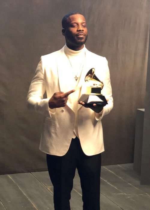 Jay Rock, as seen after winning his first Grammy Award, in February 2019