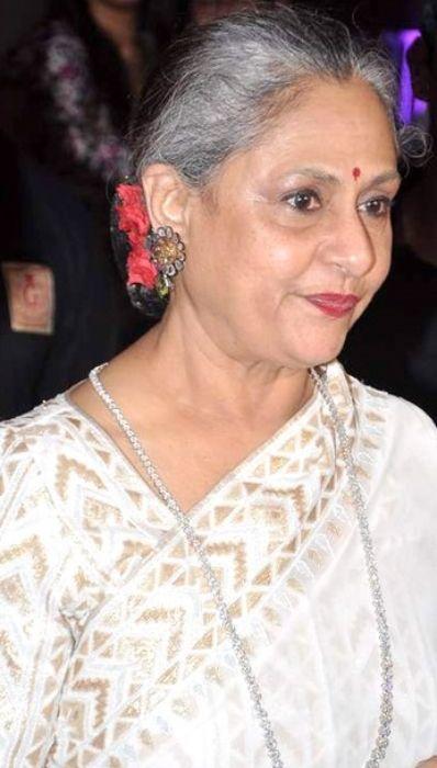 Jaya Bachchan seen at Seventy Art show for her husband's birthday
