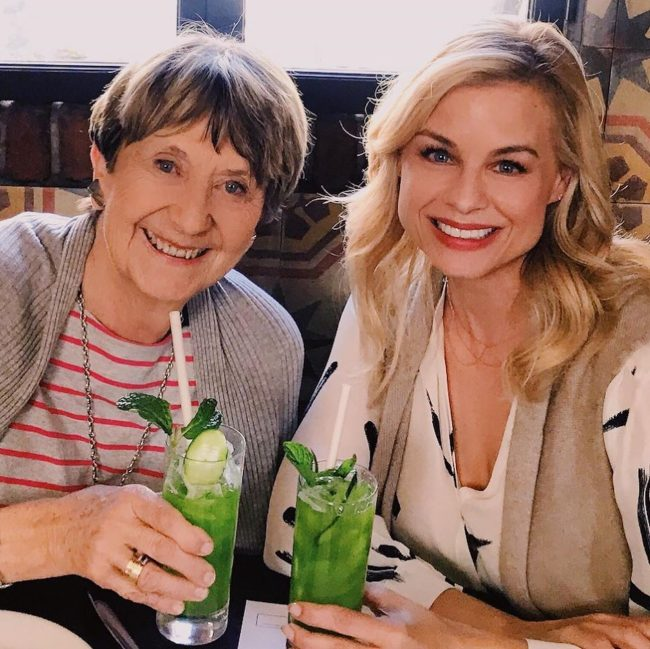Jessica Collins with her mother in law