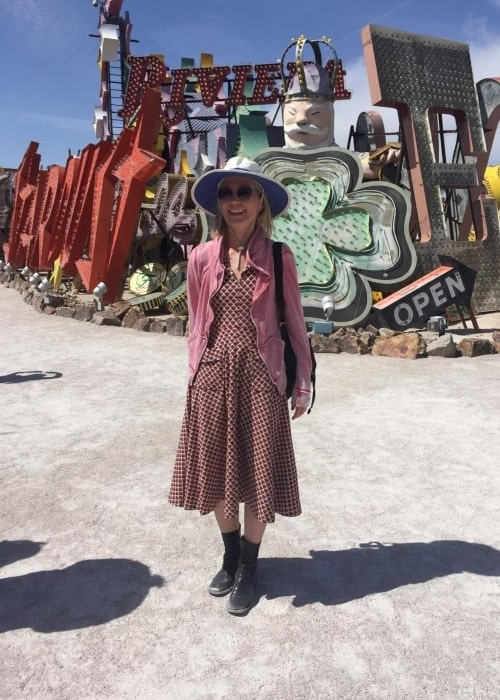 Jessica Tuck as seen in a picture taken in front of a museum in Las Vegas in April 2017