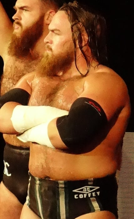 Joe Coffey as seen at a WWE event on April 6, 2019