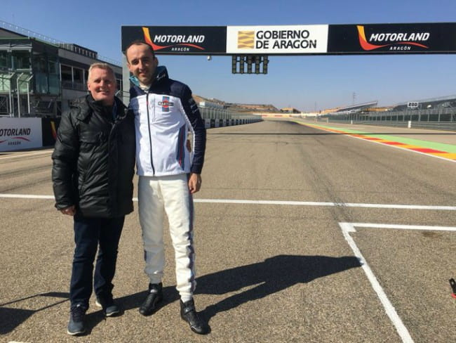 Johnny Herbert (Left) and Robert Kubica as seen in February 2018