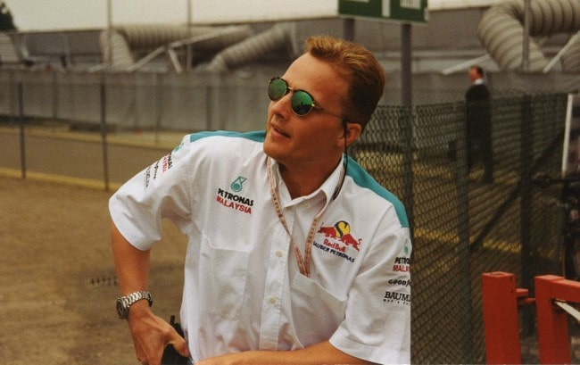 Johnny Herbert at the 1997 British Grand Prix