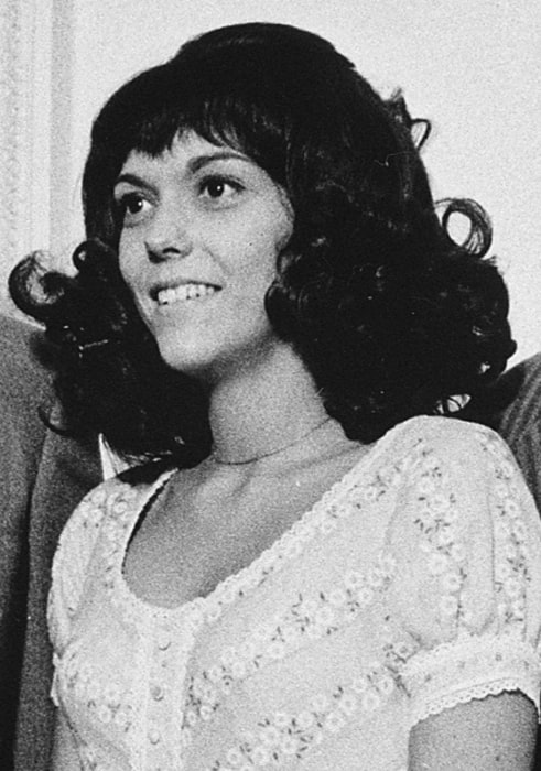 Karen Carpenter pictured at the White House in August 1972