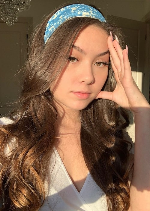 Kathryn Melvin as seen while taking a sun-kissed selfie in January 2020