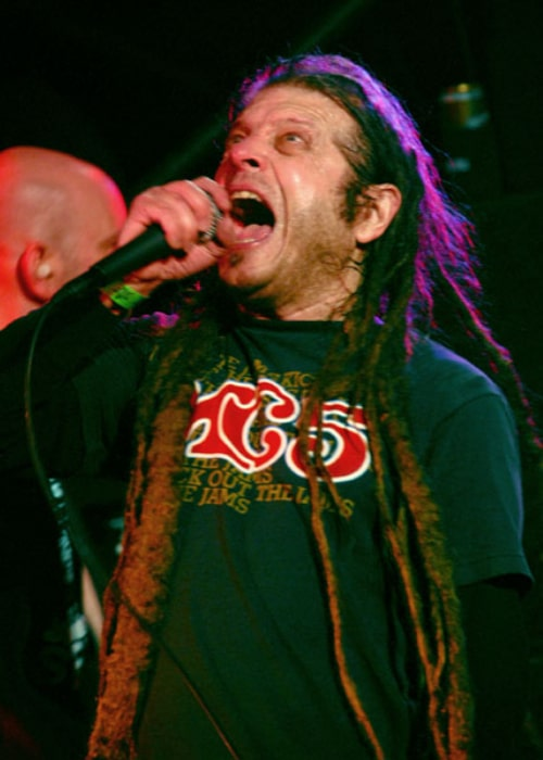 Keith Morris of the 'Circle Jerks' performing in a concert on December 1, 2006, in Austin Texas