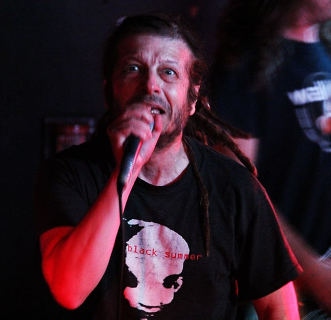 Keith Morris performing at Middle East Club on May 18, 2014