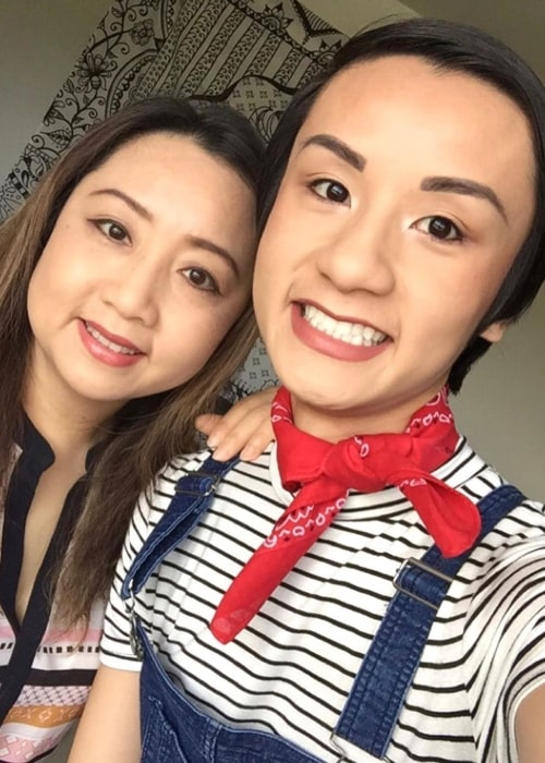 Kevin Ninh as seen in a selfie taken with his mother on Mother's Day in May 2020