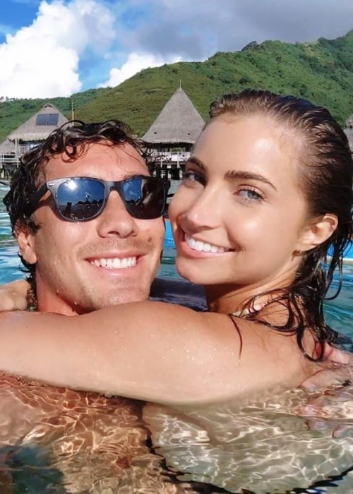 Koa Rothman as seen in a selfie taken with his girlfriend Anna Louise in March 2020
