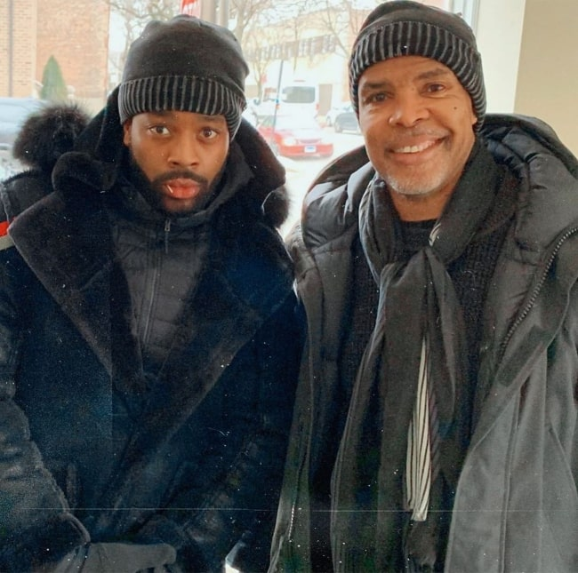 LaRoyce Hawkins (Left) as seen in a picture alongside Eriq La Salle in April 2020