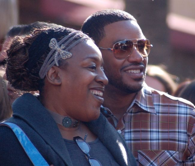 Laz and C. C. H. Pounder attending the Hollywood Walk of Fame ceremony for James Cameron in 2009