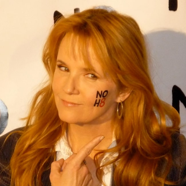 Lea Thompson as seen in a picture taken while promoting the NOH8 Campaign on January 4, 2009