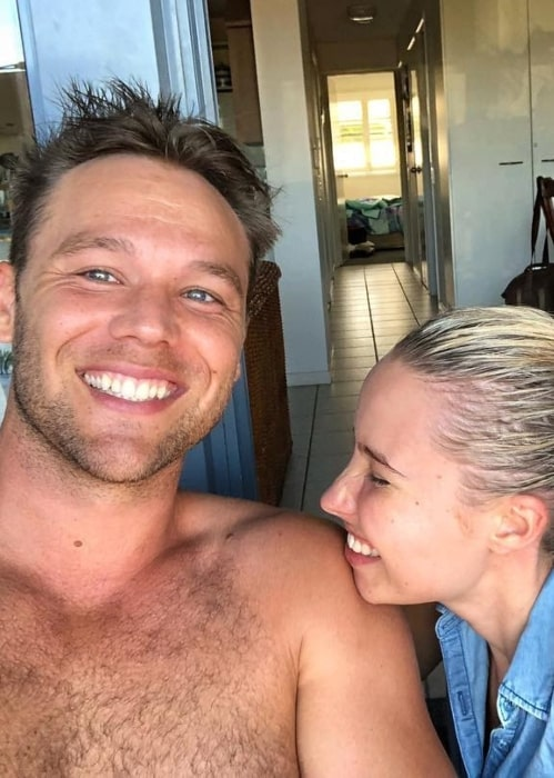 Lincoln Lewis with his girlfriend Sarah in January 2019