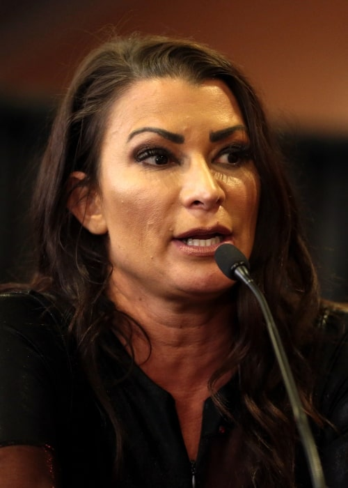 Lisa Marie Varon as seen in a picture taken while speaking at an event in Phoenix, Arizona on November 11, 2017