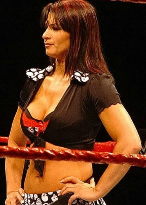 Lisa Marie Varon at the ring during a WWE house in November 2006