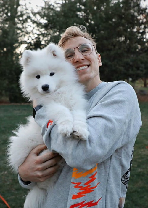 Madden Mobile Gods with his dog as seen in April 2020