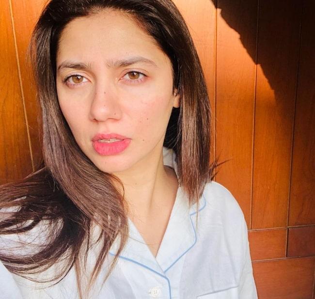 Mahira Khan as seen while taking a selfie in Karachi, Pakistan in April 2020