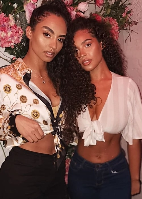 Malaika Terry (Right) as seen in a picture alongside Erikah Marie at The Hart Lounge in February 2020