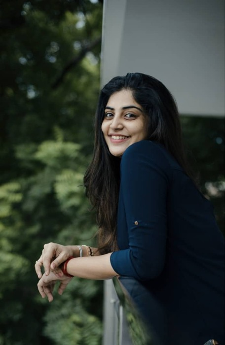Manjima Mohan in a candid picture from 2019