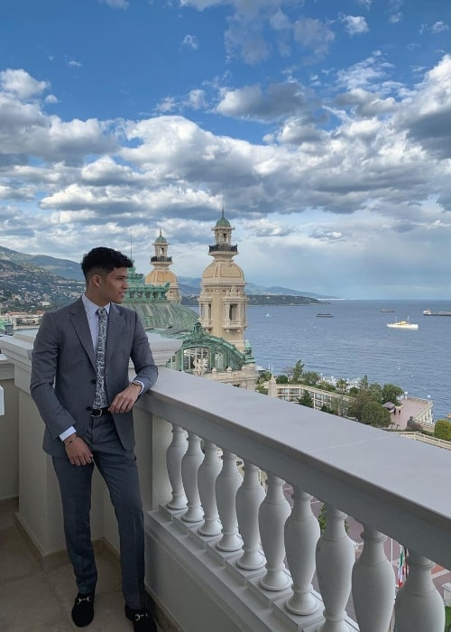 Manuel Maldonado as seen while posing for a picture with a stunning background in Monte-Carlo, Monaco in May 2019