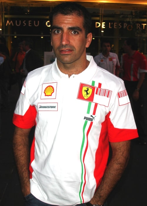 Marc Gené as seen in a picture taken at the commemoration event of the Circuit de Montjuïc on October 13, 2007