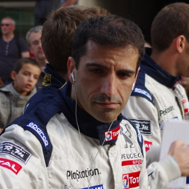 Marc Gené as seen in a picture that was taken at the Le Mans 24 Hours 2011 Drivers' Parade on June 10