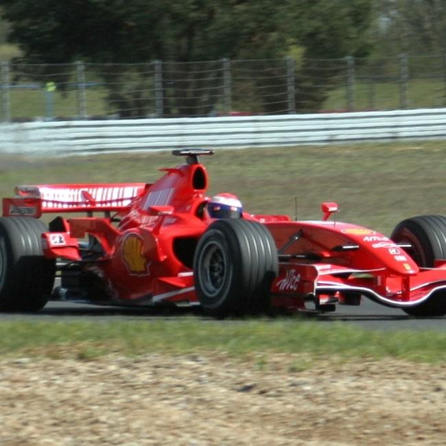Marc Gené testing for Ferrari on April 1, 2007