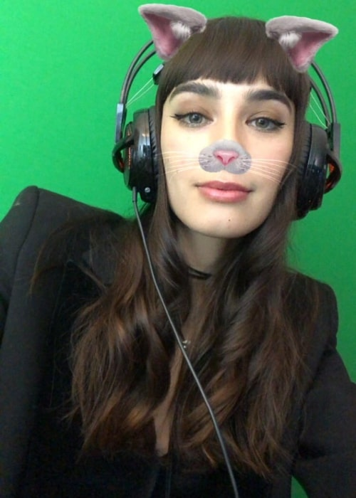 Margaux Brooke as seen in a selfie taken during a live stream in February 2019