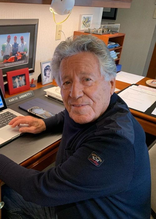 Mario Andretti as seen in an Instagram Post in April 2020