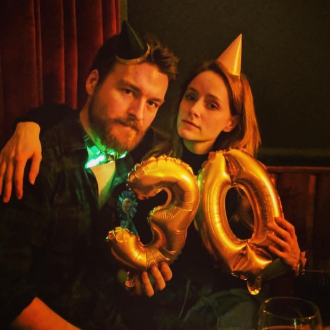 Matt Stokoe as seen in a picture taken with actress Sophie Rundle in January 2019